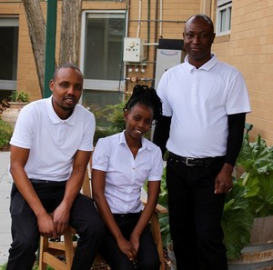 Richard, Immaculee and Unity, were welcomed into their new jobs at Benetas' Gladswood Lodge.