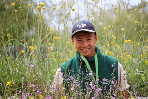 Hsar Thein Ju, a young Burmese refugee who has become the first person to secure a paid Parks Victoria Ranger traineeship.